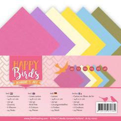 JA-A5-10010 - Linnenpakket - A5 - Jeanines Art- Happy Birds