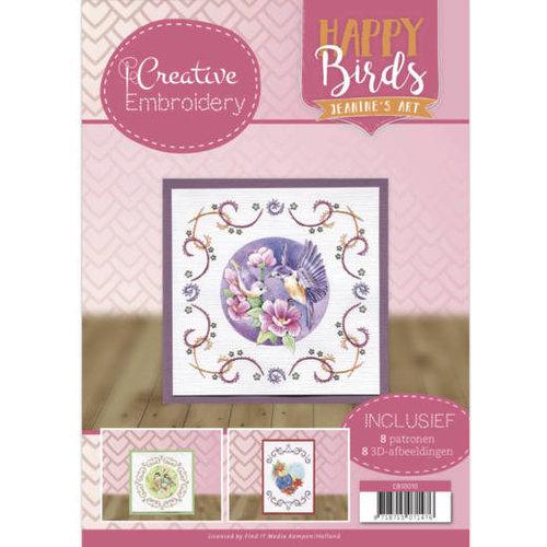 Jeanines Art CB10010 - Borduurboek 10 - Jeanines Art- Happy Birds