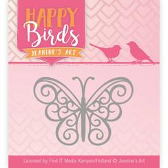 JAD10096 - Mal - Jeanines Art- Happy Birds - Vrolijke vlinder