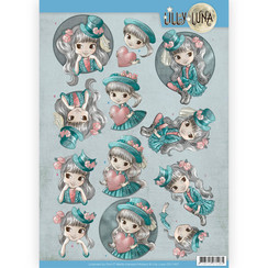 CD11427 - 10 stuks knipvellen - Lilly Luna - Stijlvol en fantastisch