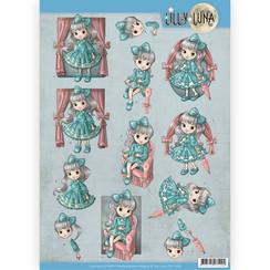 CD11428 - 10 stuks knipvellen - Lilly Luna - Mooie strikken