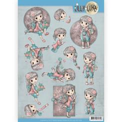 CD11429 - 10 stuks knipvellen - Lilly Luna - Bloemen om lief te hebben