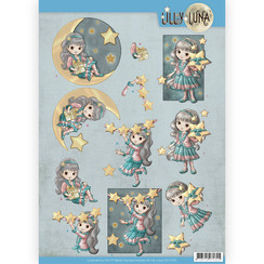 CD11430 - 10 stuks knipvellen - Lilly Luna - Straal als een ster