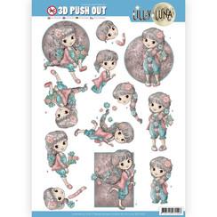 SB10420 - 3D uitdrukvel - Lilly Luna - Bloemen om lief te hebben