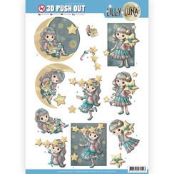 SB10421 - 3D uitdrukvel - Lilly Luna - Straal als een ster