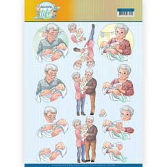 CD11398 - 10 stuks knipvellen - Yvonne Creations- Grandparents