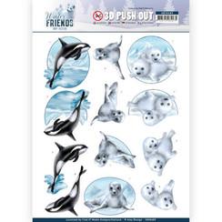SB10409 - 3D Uitdrukvel - Amy Design - Winter Friends - Sparkling Sealife
