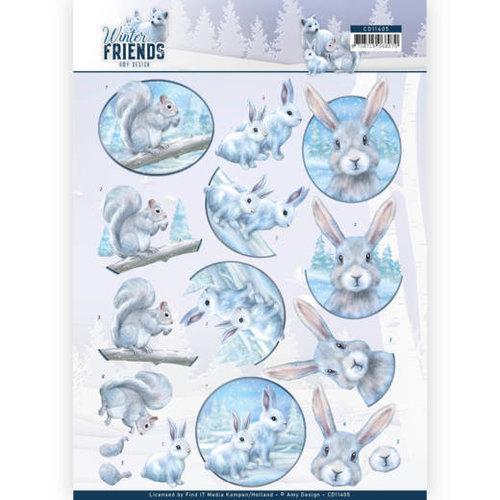 Amy Design CD11405 - 10 stuks knipvellen - Amy Design - Winter Friends - Arctic Friends