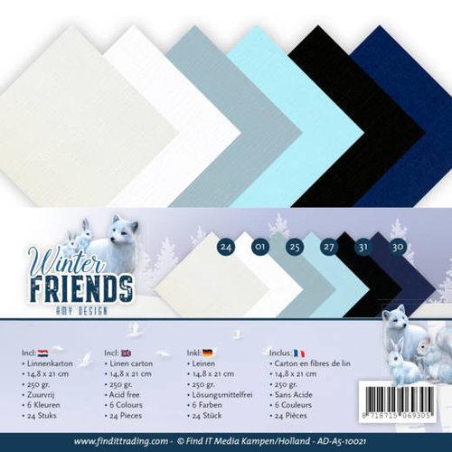 Amy Design AD-A5-10021 - Linnenpakket - A5 - Amy Design - Winter Friends