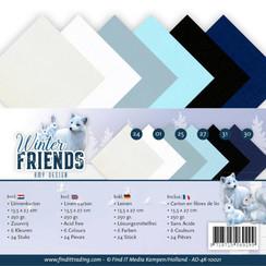 AD-4K-10021 - Linnenpakket - 4K - Amy Design - Winter Friends