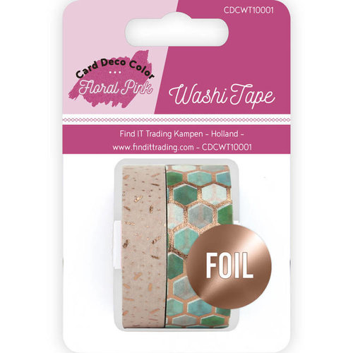 Yvonne Creations CDCWT10001 - Washi Tape - Yvonne Creations - Floral Pink