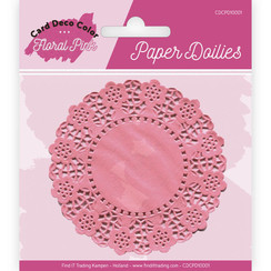 CDCPD10001 - Paper Doillies - Yvonne Creations - Floral Pink