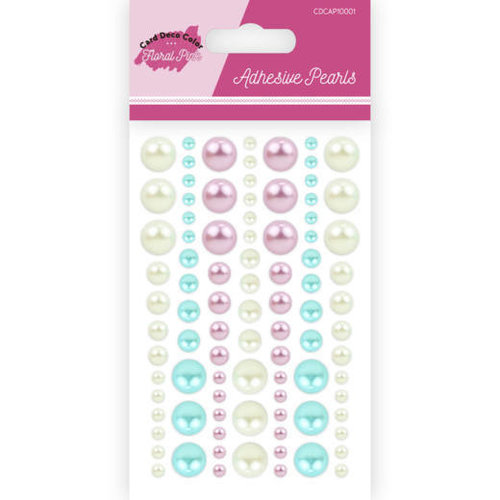 Yvonne Creations CDCAP10001 - Adhesive Pearls - Yvonne Creations - Floral Pink