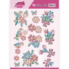 CD11422 - 10 stuks knipvellen - Yvonne Creations - Kitschy Lala - Kitchy Flowers
