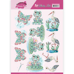 CD11421 - 3D Knipvel  - Yvonne Creations - Kitschy Lala - Kitschy Frog