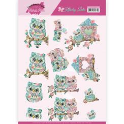 CD11420 - 10 stuks knipvellen - Yvonne Creations - Kitschy Lala - Kitschy Owls