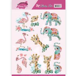 CD11419 - 10 stuks knipvellen - Yvonne Creations - Kitschy Lala - Kitschy Animals