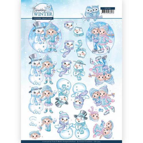 Yvonne Creations CD11404 - 10 stuks knipvellen - Yvonne Creations - Sparkling Winter - Winterfun