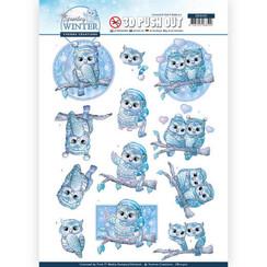 SB10402 - 3D Uitdrukvel - Yvonne Creations - Sparkling Winter - Winter Owls