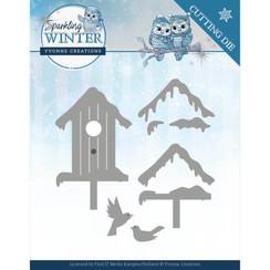 YCD10190 - Mal - Yvonne Creations - Sparkling Winter - Winter Birdhouse