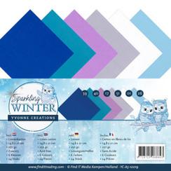 YC-A5-10019 - Linnenpakket - A5 - Yvonne Creations - Sparkling Winter