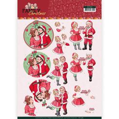CD11387 - 10 stuks knipvellen - Yvonne Creations- Loving Christmas