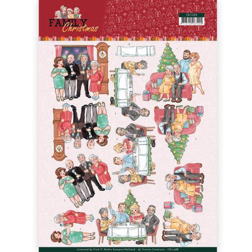 Yvonne Creations CD11388 - 10 stuks knipvellen - Yvonne Creations- Happy Family