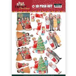 SB10393 - 3D Uitdrukvel - Yvonne Creations - Family Christmas - Celebrate Christmas