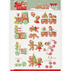 CD11373 - 10 stuks knipvellen - Yvonne Creations - Sweet Christmas - Sweet Cookies