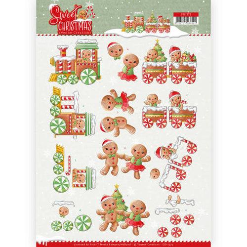Yvonne Creations CD11373 - 10 stuks knipvellen - Yvonne Creations - Sweet Christmas - Sweet Cookies