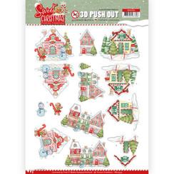 SB10394 - 3D Uitdrukvel - Yvonne Creations - Sweet Christmas - Sweet Houses