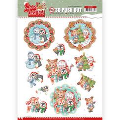 SB10397 - 3D Uitdrukvel - Yvonne Creations - Sweet Christmas - Sweet Winter Animals