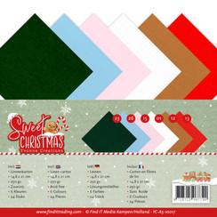 YC-A5-10017 - Linnenpakket - A5 - Yvonne Creations - Sweet Christmas