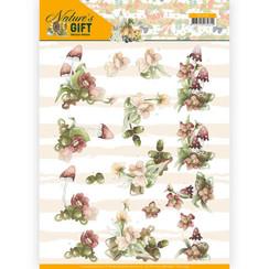 CD11349 - 10 stuks knipvellen - Precious Marieke - Nature's Gift - Red Gift