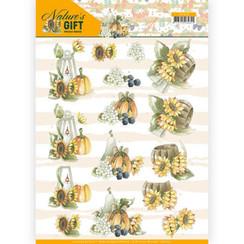 CD11350 - 10 stuks knipvellen - Precious Marieke - Nature's Gift - Yellow Gift