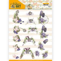 CD11352 - 10 stuks knipvellen - Precious Marieke - Nature's Gift - Purple Gift