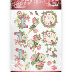 CD11377 - 10 stuks knipvellen - Jeanines Art- Lovely Christmas - Lovely Christmas Time