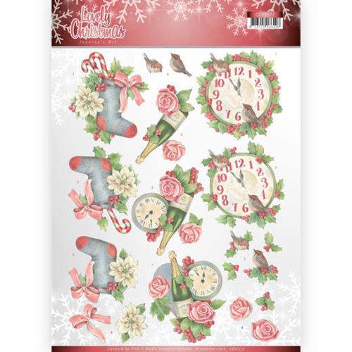 Jeanines Art CD11377 - 10 stuks knipvellen - Jeanines Art- Lovely Christmas - Lovely Christmas Time