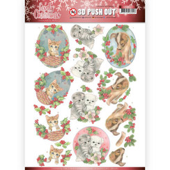 SB10387 - 3D Uitdrukvel - Jeanines Art- Lovely Christmas - Lovely Christmas Pets