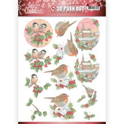 SB10390 - 3D Uitdrukvel - Jeanines Art- Lovely Christmas - Lovely Birds