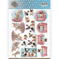 CD11366 - 10 stuks knipvellen - Amy Design - Dogs Life - All kind of Dogs