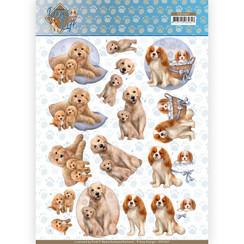 CD11367 - 10 stuks knipvellen - Amy Design - Dogs Life - Dog Mommy
