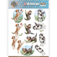 SB10377 - 3D Uitdrukvel - Amy Design - Dog's Life - Playing Dogs