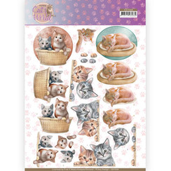 CD11368 - 10 stuks knipvellen - Amy Design - Cats World - Kittens