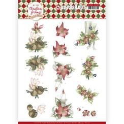 SB10374 - Uitdrukvel - Precious Marieke - Warm Christmas Feelings - Red Center Pieces