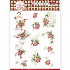 SB10373 - Uitdrukvel - Precious Marieke - Warm Christmas Feelings - Red Christmas Ornaments