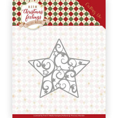 PM10163 - Mal - Precious Marieke - Warm Christmas Feelings - Swirl Star