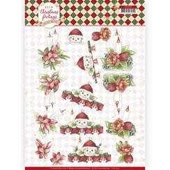 CD11319 - 10 stuks knipvellen - Precious Marieke - Warm Christmas Feelings - Christmas Candles