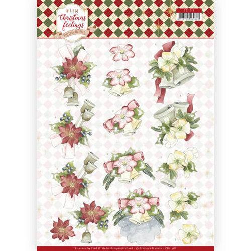 Precious Marieke CD11318 - 10 stuks knipvellen - Precious Marieke - Warm Christmas Feelings - Christmas Bells