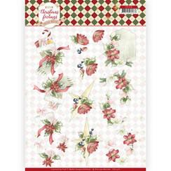 CD11316 - 10 stuks knipvellen - Precious Marieke - Warm Christmas Feelings - Red Christmas Ornaments